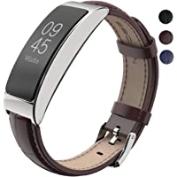 MIJOBS Bands for Fitbit Inspire HR - Breathable Genuine Leather Band Compatible with Fitbit Inspire Bands/Inspire HR Band, Strap Wristbands for Fitbit Inspire HR Fitness Tracker Smart Band