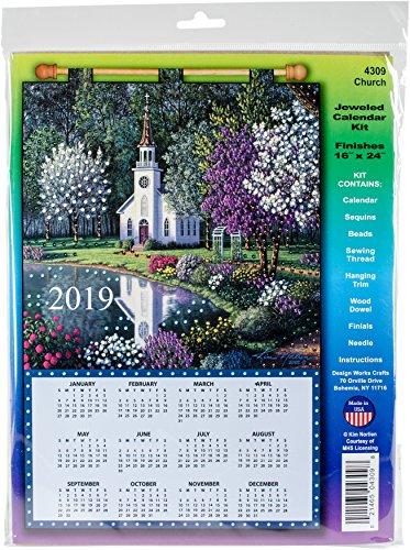 Church 2019 Felt Calendar - Felt Jeweled Calendars