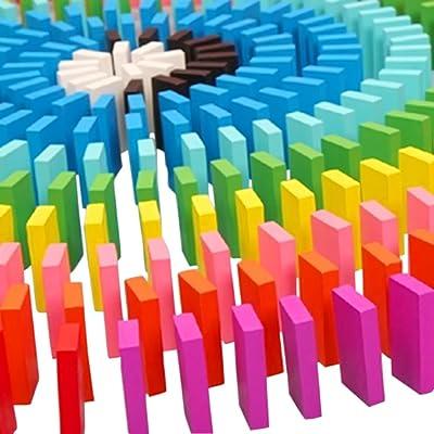 Vococal - 120 Piezas Bricolaje Bloques de Madera Juego Juguete Educativo para niños,Colores de Mezcla: Juguetes y juegos