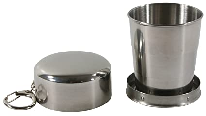 Vaso portátil plegable de acero inoxidable GoodDing, para viajes, aire libre, camping