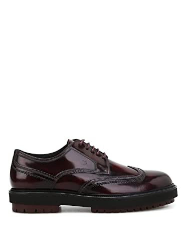 dbda6f97455 Image Unavailable. Image not available for. Color: Tod's Men's  Xxm0zw0v270aktr802 Burgundy Leather Lace-Up Shoes