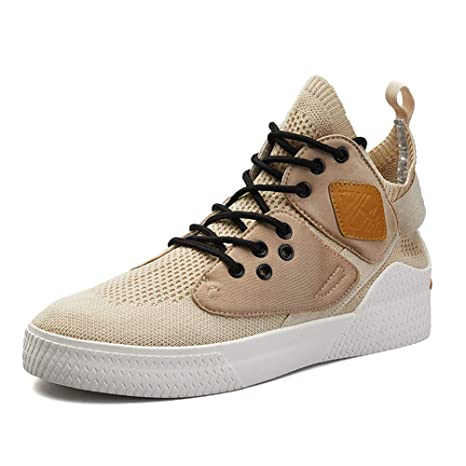 62578bac Men's High Rise shoes Flying Woven Street Casual Shoes Spring/Fall Comfort  Sneakers Running Shoes Slip Resistant,Gold,42: Amazon.ca: Luggage & Bags