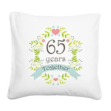 Amazon.com: CafePress – 65th Aniversario Flores y – 20 ...