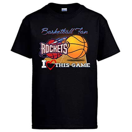 Camiseta NBA Houston Rockets Baloncesto Basketball fan I Love This Game: Amazon.es: Ropa y accesorios