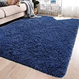 YJ.GWL Soft Shaggy Area Rugs for Girls Room Bedroom