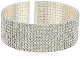 Anne Klein Classics Silver Ton Crystal Cuff