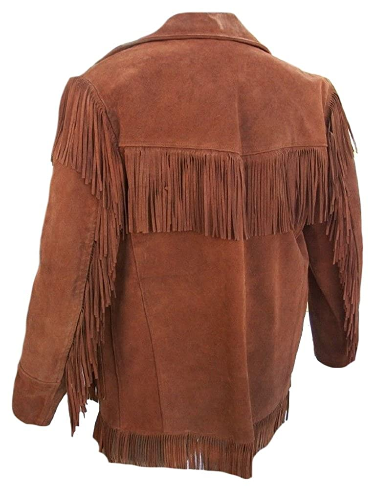 Sleekhides Mens Western Cowboy Suede Leather Stylish Jacket ...