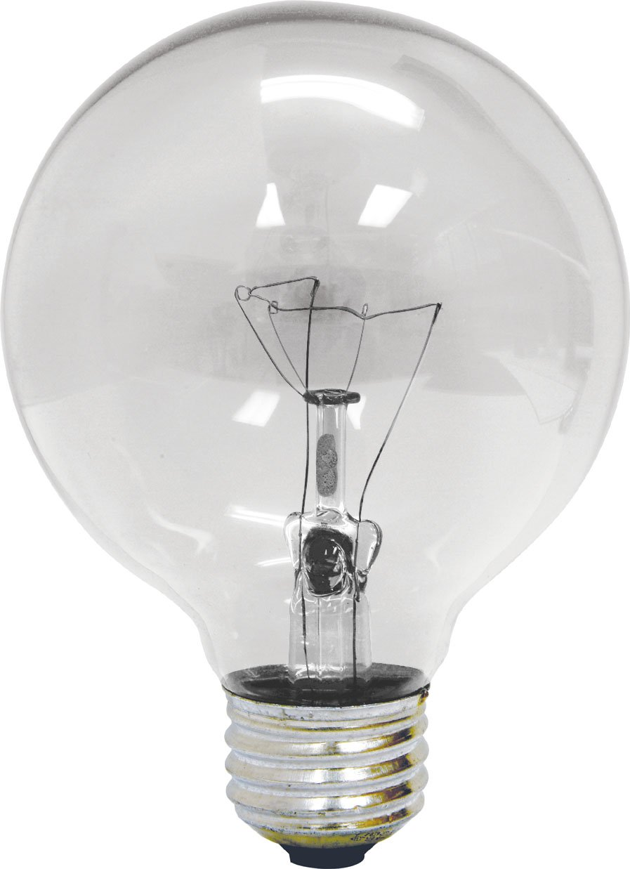 Ge 16771 40G25 H CL Vanity Globe Halogen Light Bulb 40W E26 Base G25