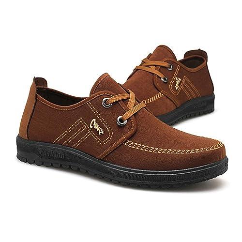 Zapatos Antiguos de Tela de Moda de Pekín para Hombres Alpargatas con Cordones Ocasionales Respirables: Amazon.es: Zapatos y complementos