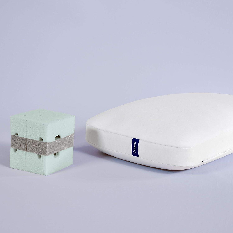 Casper Sleep Foam Pillow for Sleeping, King, White