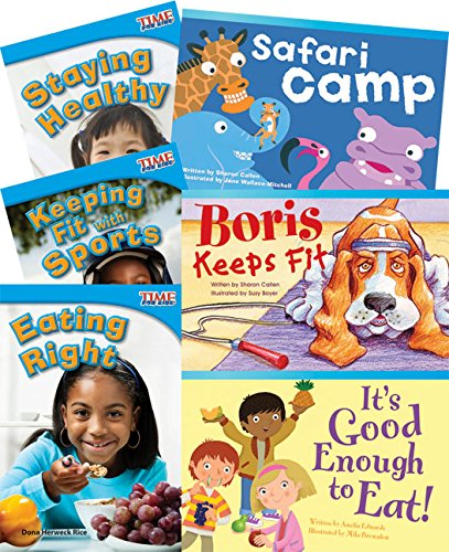 (Teacher Created Materials - Classroom Library Collections: Healthy and Fit! - 6 Book Set - Grade 1 - Guided Reading Level)