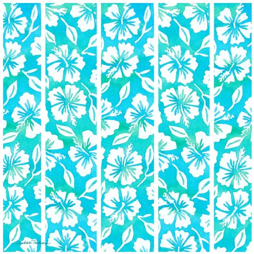 Thirstystone Occasions Trivet, Hibiscus Garden Pattern Teal, -