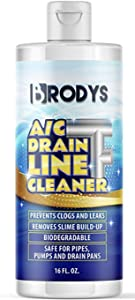 Brodys - A/C HVAC Drain Line Cleaner, 16oz Bottle, (2 Month Supply)