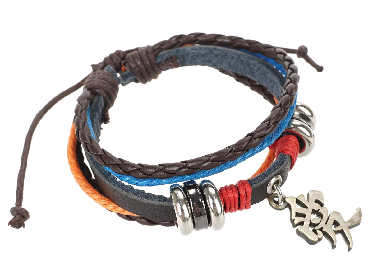 CoolChange Bracelet /à plousiers Tours avec pendantif de m/étal Motiv Kanji de lamour de Gaara