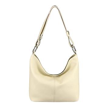 OBC Made in Italy Echt Leder Damen Tasche Shopper Schultertasche Umhängetasche Handtasche Henkeltasche IPad mini Tablet bis 10 Zoll Daisy5 28x24x14 cm