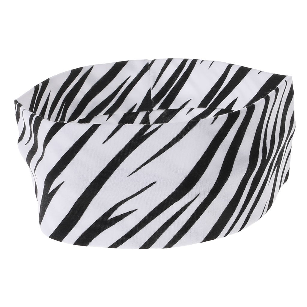 Sport Hair Band Elastic Wide Zebra Stripe Yoga Exercise Women Sweatband Headband