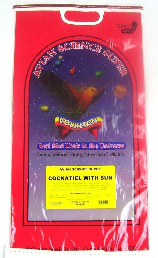 Volkman Seed Avian Science Super Cockatiel With Sunflower 20lb