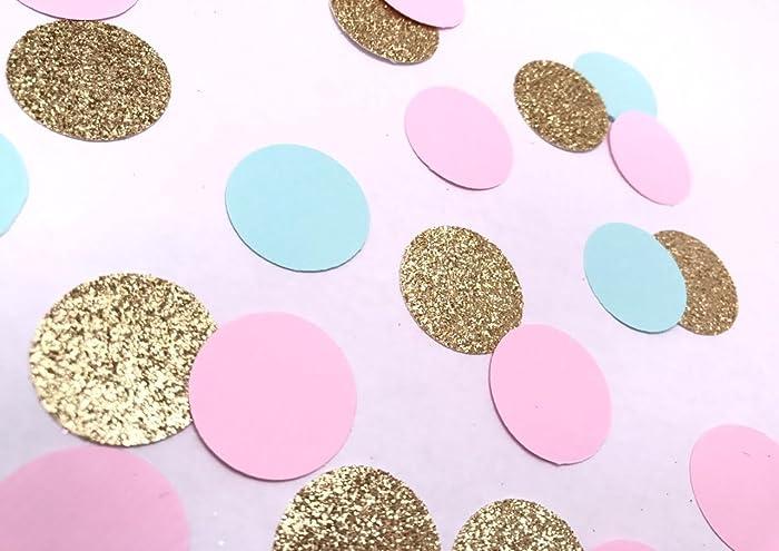 Amazon.com  Pink Blue and Gold Glitter Confetti c7118d5e1b38