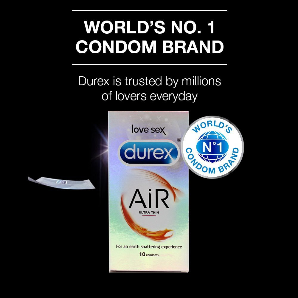 Durex Air Ultra Thin Condoms 10s Cloudtail India Play Intimate Lube 100 Ml Free Kondom Ribbed Isi 3