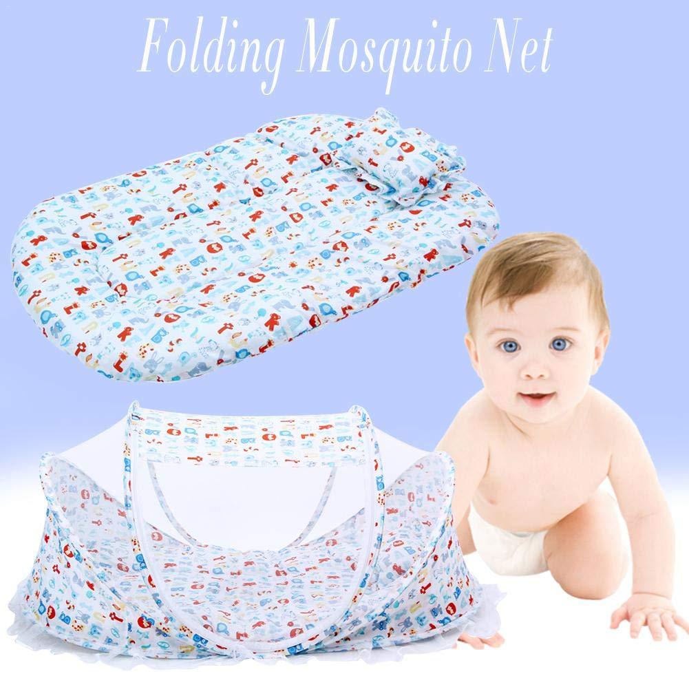 Mosquitera para Ni/ños Cama port/átil beb/és p/árr Colchones Pillow-Top con mosquiteros Paquete de m/úsica A Prueba de Polvo Mosquito A Prueba de Viento Plegable casa Viaje