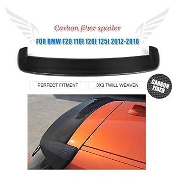 jcsportline coche alerón para 2012 - 2017 BMW Serie 1 F20 de fibra de carbono trasero deflector para techo de ala (Compatible con: F20): Amazon.es: Coche y ...