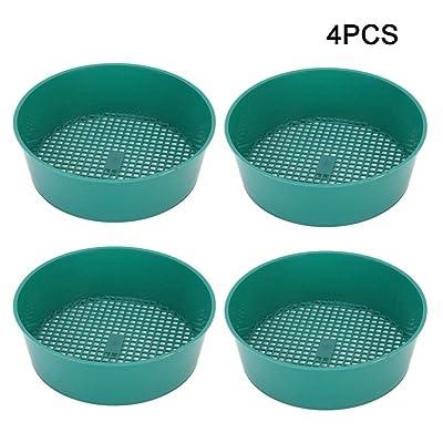 Mumusuki 4pcs Plastic Sieve Garden Mesh Gardening Sieve Succulent Plants Sand Stone Filter Tool: Home & Kitchen
