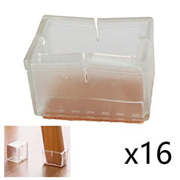 70%OFF CoolHome Transparent Silicone Chair Leg Caps Felt Pads Furniture Pad  Chair Leg Floor Protectors