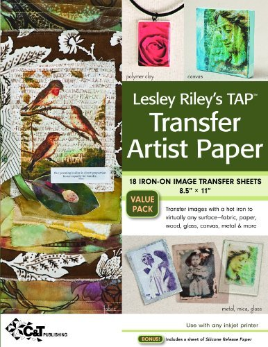 Download Lesley Riley's TAP Transfer Artist Paper 18-Sheet Pack: 18 Iron-on Image Transfer Sheets 8.5 x 11 PDF