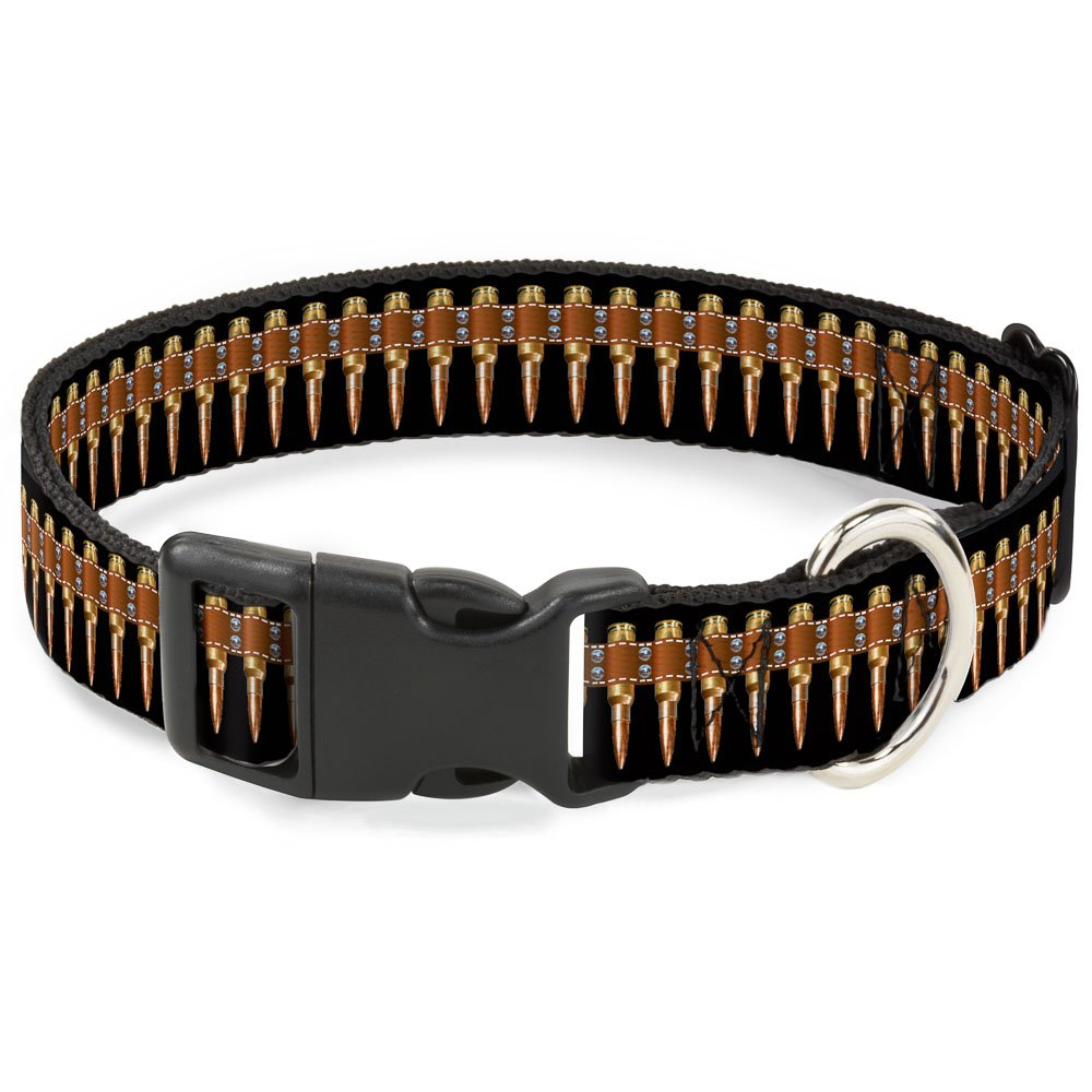 Buckle-Down PC-W30223-WL Bullets Plastic Clip Collar, Wide Large 18-32
