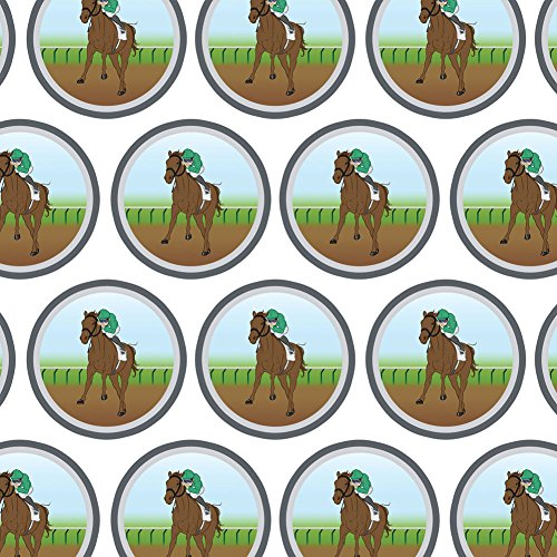 (Premium Gift Wrap Wrapping Paper Roll Gambling Track Cards Poker - Horse Racing Race Jockey)