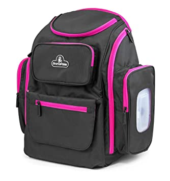 Amazon.com : Primo Passi Baby Diaper Bag Travel Backpack with Insulated Pockets, Wipes Case, Changing Pad, and Stroller Straps (Pink) : Baby