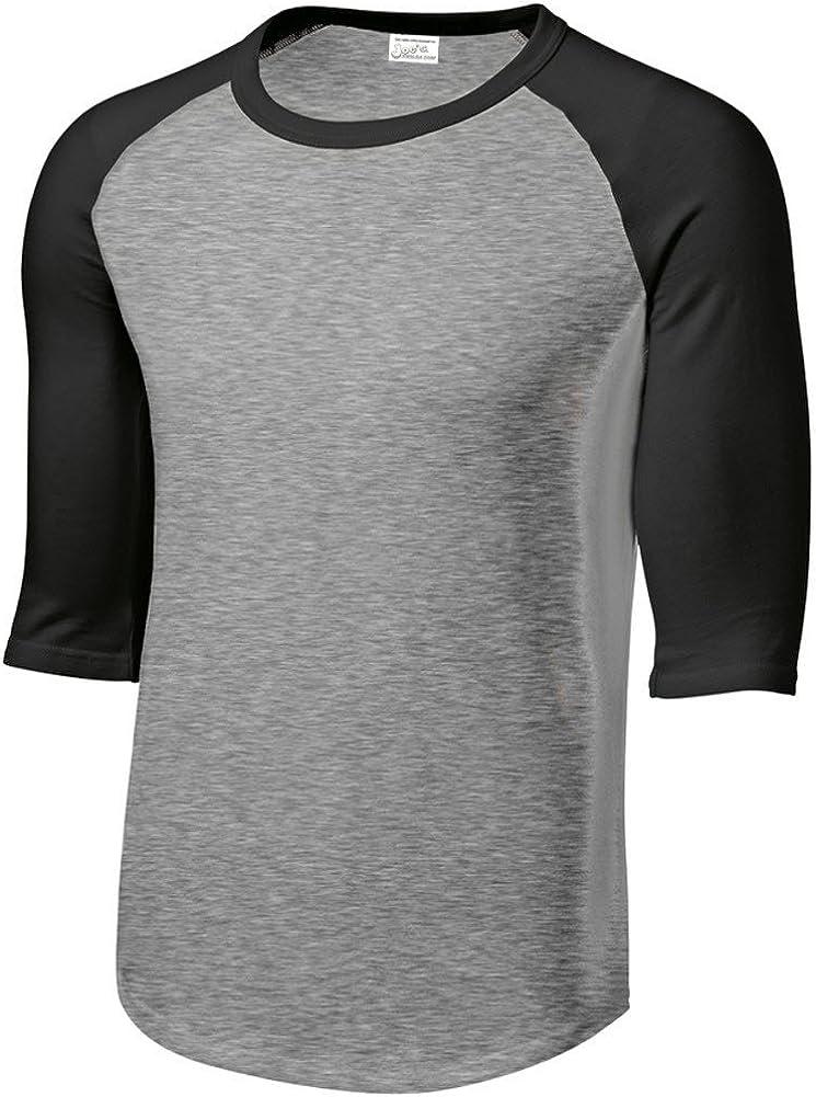 Joe's USA Mens or Youth 3/4 Sleeve 100% Cotton Baseball Tee Shirts-Youth XS to Adult 6X