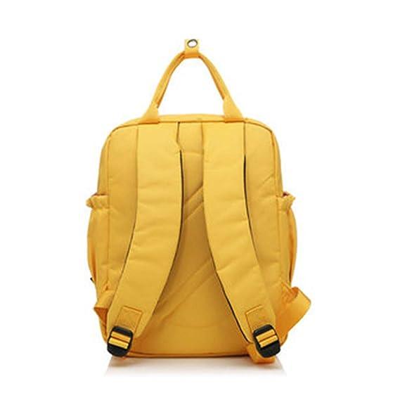 Amazon.com: Brand 100% Polyester Yellow School Bag Backpacks for Teenage Girls Small Knapsack Mochila Escolar Lona Infantil S15008-2 Yellow: Computers & ...