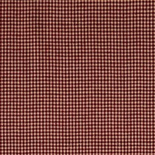 A.E. Nathan 0593845 Homebas Small Check Burgundy Fabric by The Yard ()