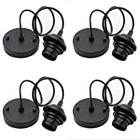 4 Pieces Rose Light Pendant Accessories Retro Modern Light Stand with 100mm Cable for…