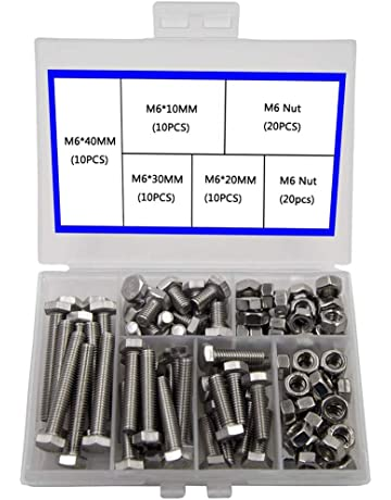 M3 testa esagonale interamente filettate Hex set viti bulloni in acciaio inox a2 DIN 933