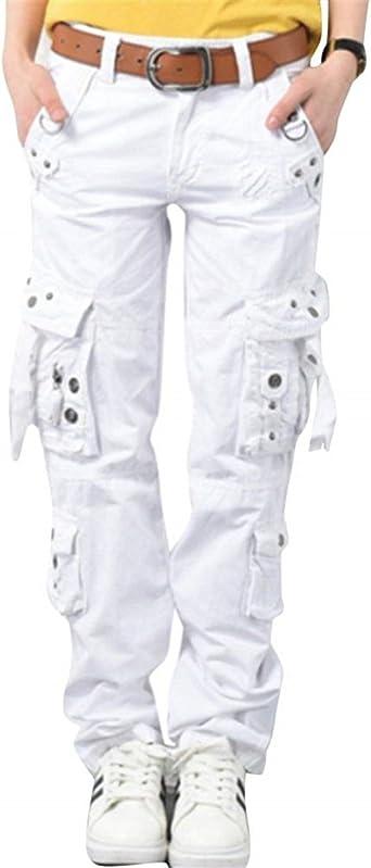 Bolawoo Mujer Pantalon Cargo Anchas Deportiva Entrenamiento Hip Hop Mode De Marca Estilo Pantalones Deporte Pantalones De Tiempo Libre Con Bolsillos Pantalon Unicolor Amazon Es Ropa Y Accesorios