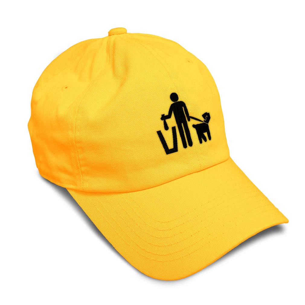Custom Soft Baseball Cap Cleaning Dogs Poop B Embroidery Twill Cotton