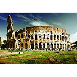 Italy rome colosseum architecture- Nature Art Poster Print on Canvas 20x29in (P-1000151)