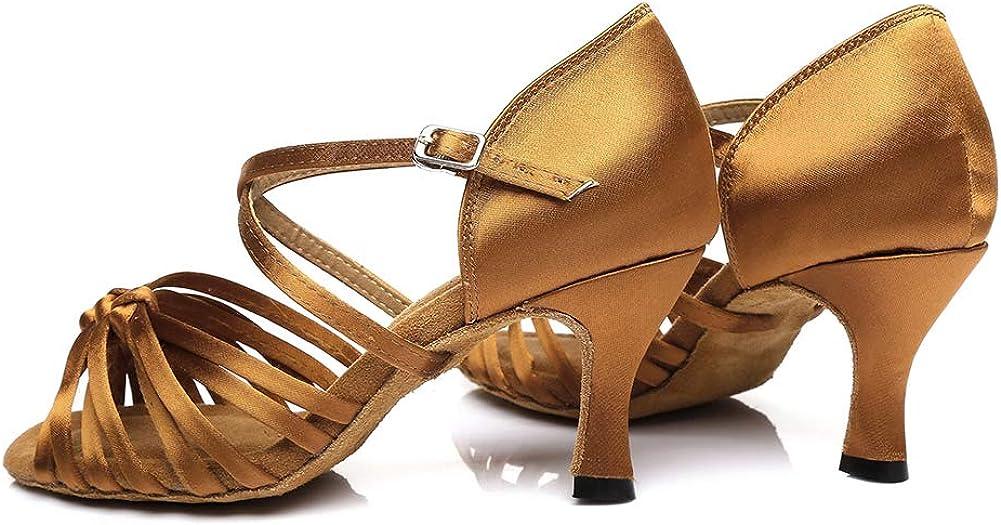 YKXLM Mujeres/&Ni/ña Zapatos Latinos de Baile Zapatillas de Baile de sal/ón Salsa Performance Calzado de Danza,Modelo ES217