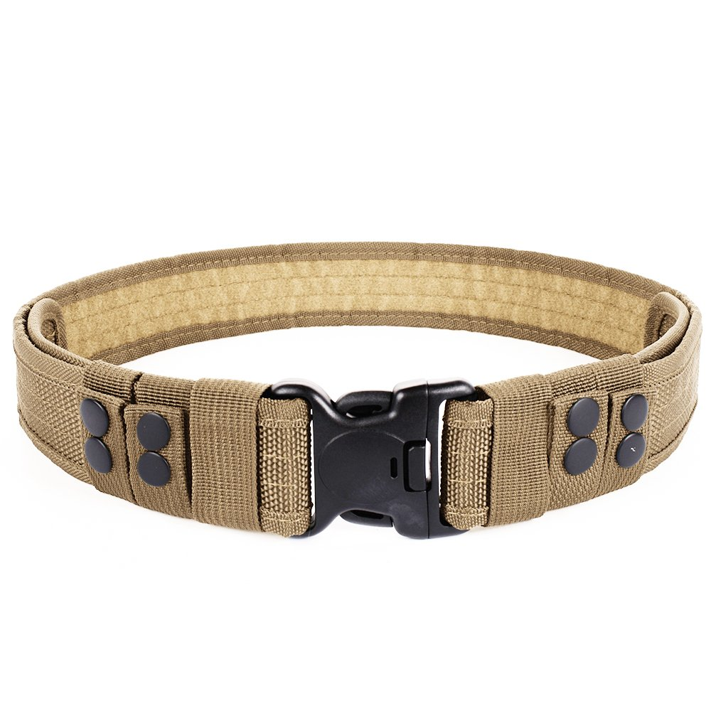 Luufan Military Tactical Belt Security Gear Adjustable Heavy Duty Belt with Quick Release Buckle for Outdoor Activity