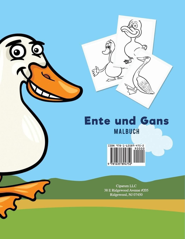 Ente Und Gans Malbuch German Edition For Kids Coloring Pages 9781635894752 Amazon Com Books