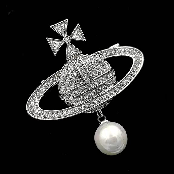 Vintage estilo modernista imitado Pearl gota celestial Saturn ...