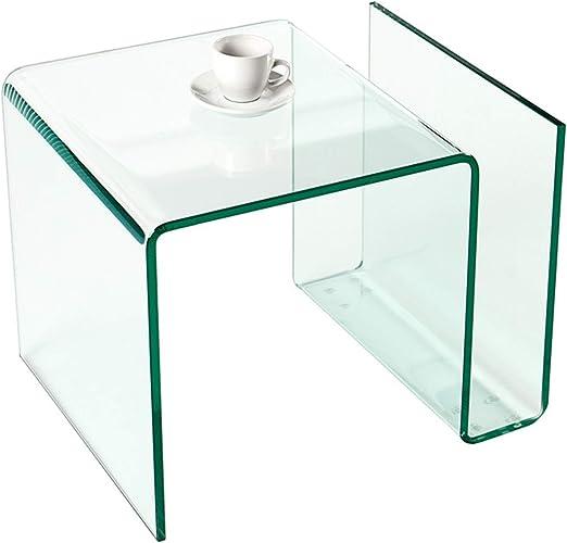 Invicta Interior Colmore Cristal Ghost – Mesa Auxiliar Mesa con Repisa para Magazine Transparente: Amazon.es: Juguetes y juegos