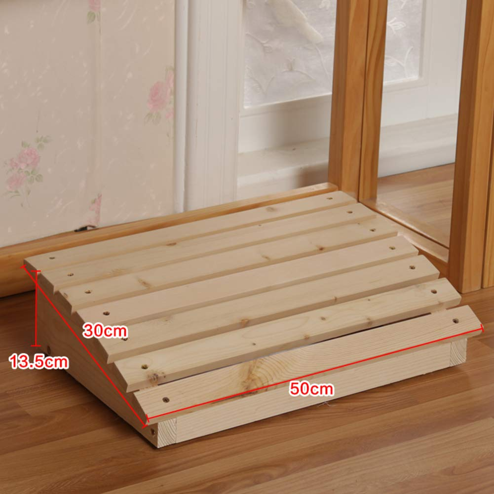 C 50x30x13cm(20x12x5in) Wood footrest,Tall with Extended Legs Wooden Foot Stool Natural Floor Bench Sturdy Wooden footrest Pine with Height Storage-N 50x30x13cm(20x12x5in)