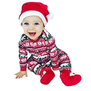 12e94edbee77 Baby Romper Suits Baby Boys Girls Jumpsuit Christmas Clothes Newborn ...