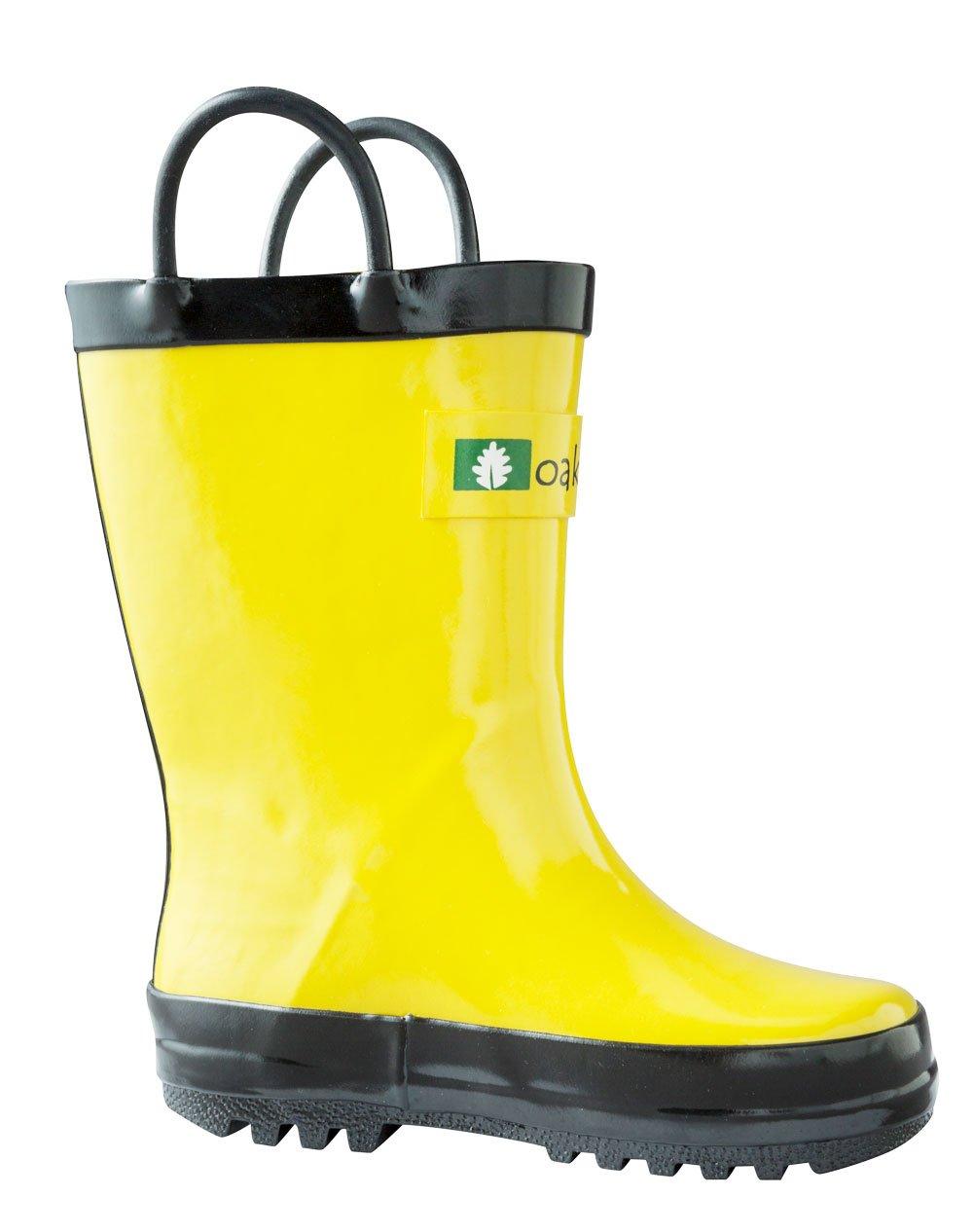 OAKI Kids Waterproof Rain Boots Easy-On