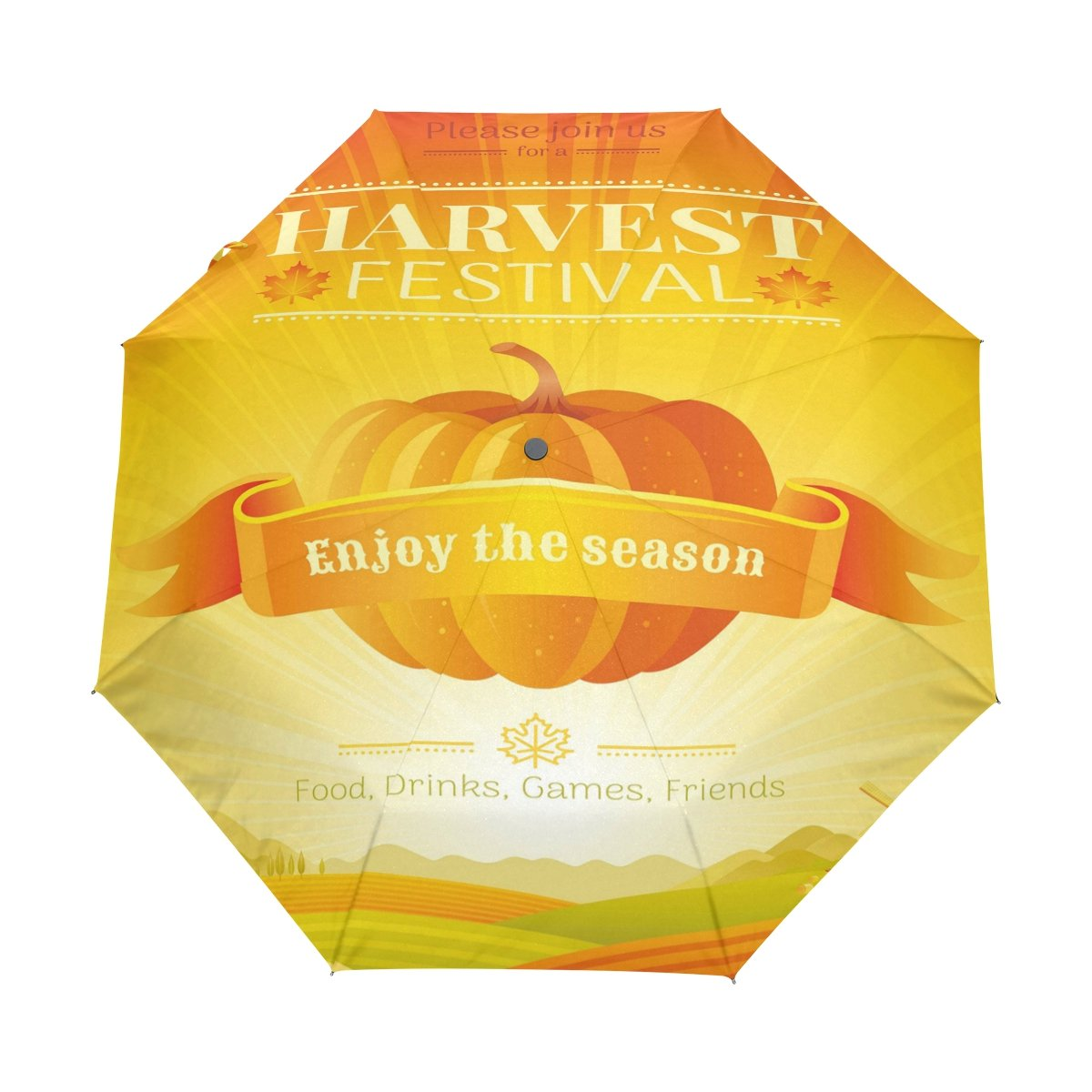 7b38a47d8809 delicate ALAZA Fall Harvest Pumpkin Thanksgiving 3 Folds Auto Open ...
