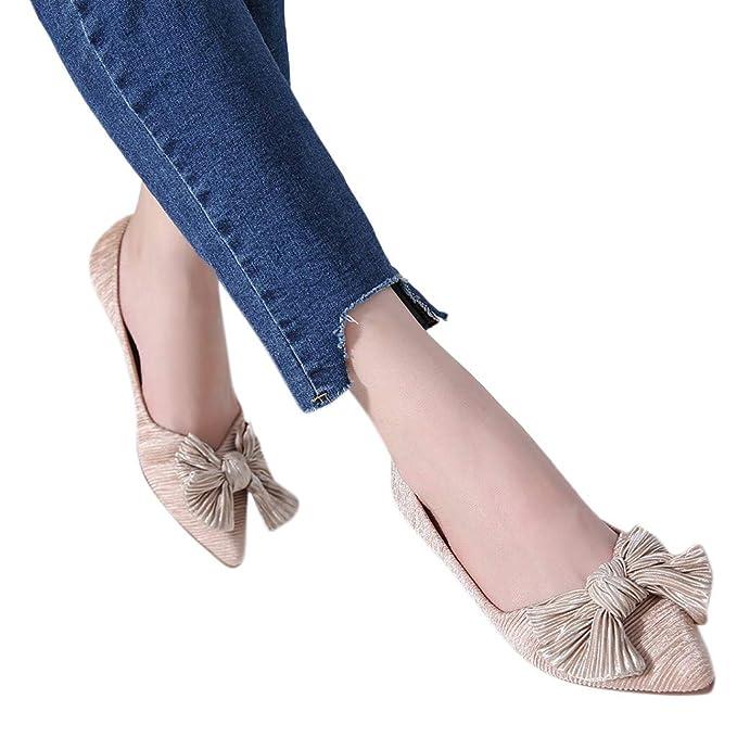 be1d8cf701353 Amazon.com: Behkiuoda Women Flat Shoes Pointed Toe Shoe Shallow ...