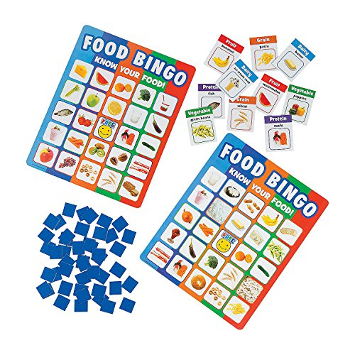 Fun Express - Food Recognition Bingo - Educational - Teaching Aids - Science - 25 Pieces